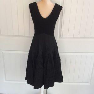 Caché black party dress size 6